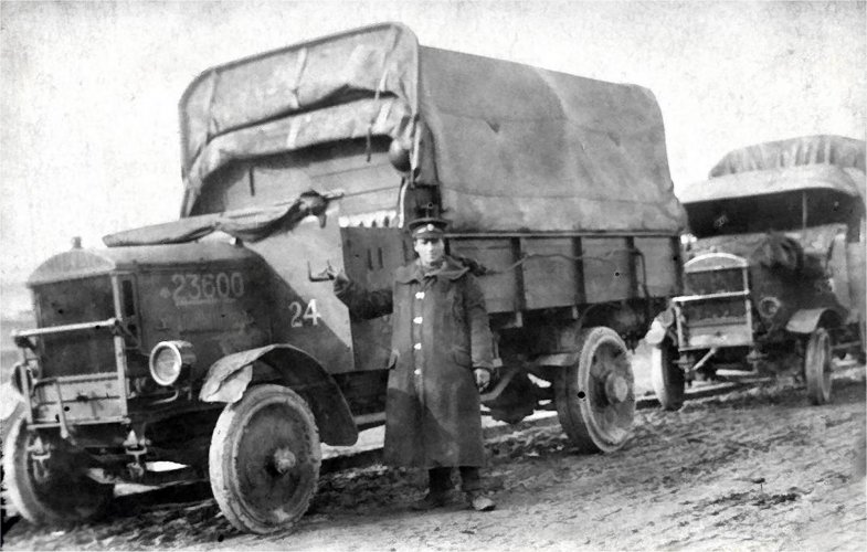 George Blundell in Northern France by his lorry(?)