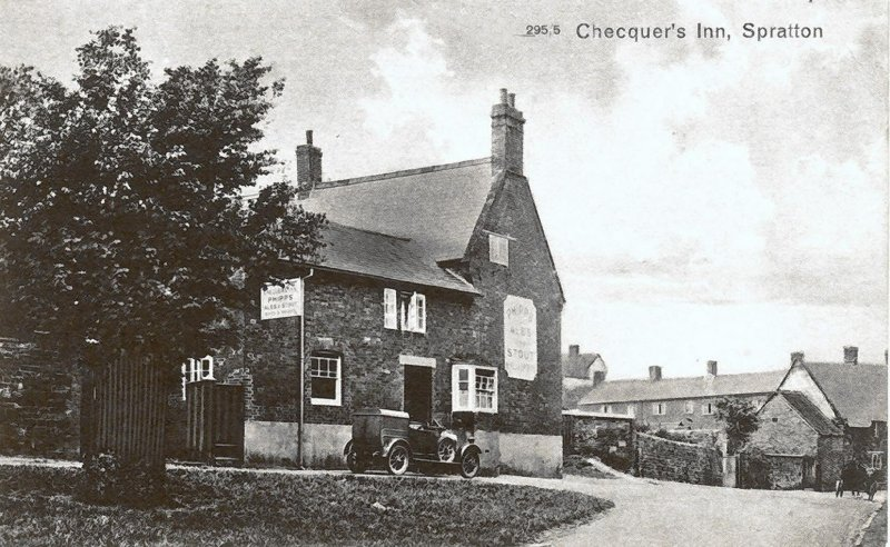 The Chequers, Spratton, in the 1920s