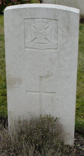Military grave of Baden Gammage in Tidworth Military Cemetery, Wiltshire