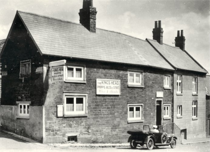 The King's Head, Spratton, in the 1920s