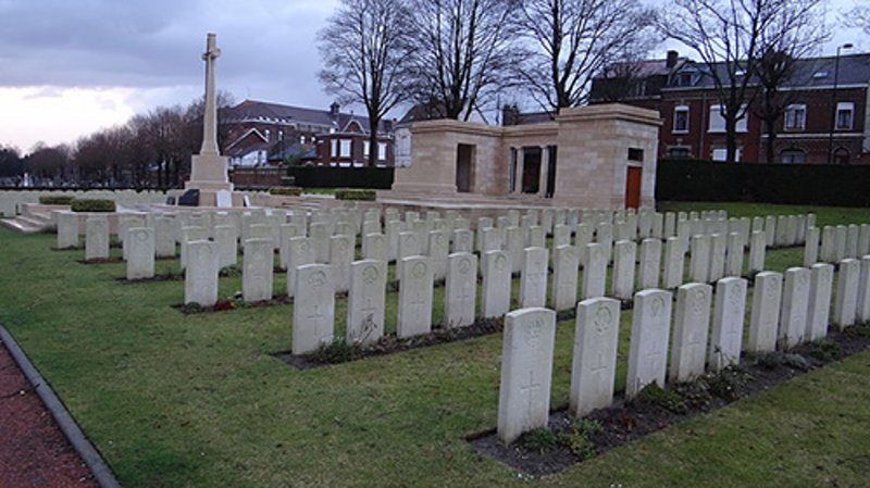 The Valenciennes (St Roch) Communal Cemetery in northern France