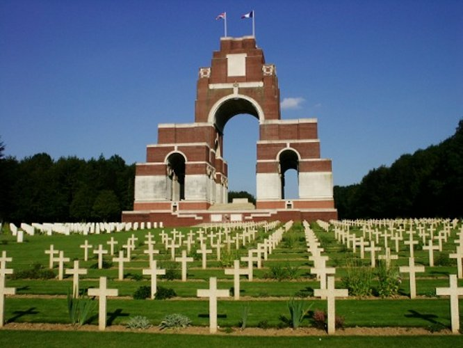 Thiepval Memorial to the missing from the Battle of the Somme