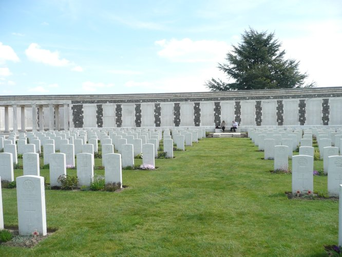 Tyne Cot cemetery and memorial, near Ypres, Belgium