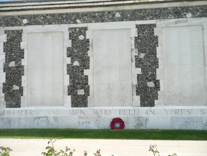 Panels 86-88 on the Tyne Cot memorial